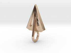 Airfoil Arrowhead Pendant/Earring in 14k Rose Gold
