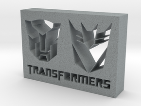 Transformers Logo in Polished Metallic Plastic