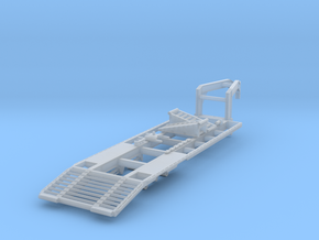 1/50 scale 25 foot 2-axle gooseneck trailer in Smooth Fine Detail Plastic