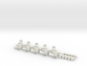 Coupler Liftbar Bracket Style 1 in White Natural Versatile Plastic