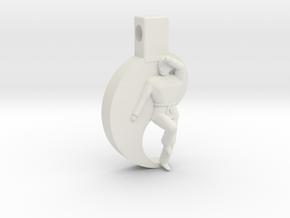 Pendant - Mens Keumgang in White Natural Versatile Plastic