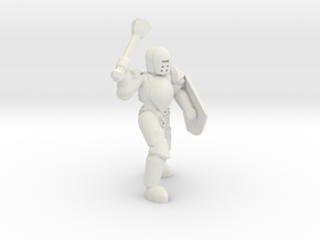General Paladin Mini 2 (Mace and Shield) in White Natural Versatile Plastic