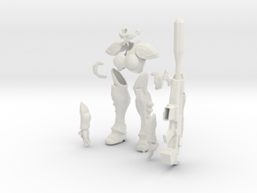 1/12 Terran Ghost Armor and Rifle in White Natural Versatile Plastic