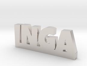 INGA Lucky in Rhodium Plated Brass