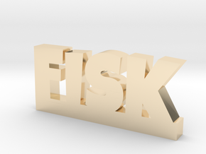 FISK Lucky in 14k Gold Plated Brass
