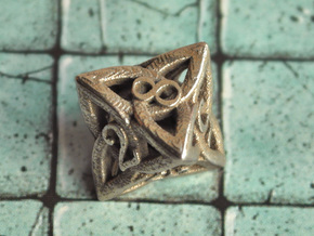 Celtic D8 in Polished Bronzed Silver Steel