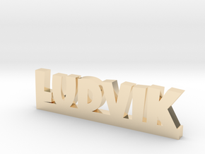 LUDVIK Lucky in 14k Gold Plated Brass