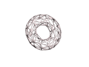 Toroid - inner in White Natural Versatile Plastic