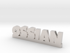 OSSIAN Lucky in Rhodium Plated Brass