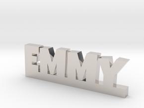 EMMY Lucky in Rhodium Plated Brass