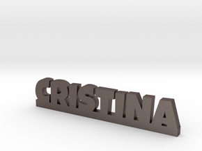 CRISTINA Lucky in Polished Bronzed Silver Steel