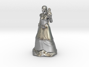 Female Half Elf Bard with Rapier and Uilleann pipe in Natural Silver