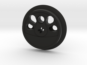Large Boxpok Flanged Driver - Large Counterweight in Black Natural Versatile Plastic