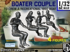 1-32 Recreation Boat Couple Set 1 in Smooth Fine Detail Plastic