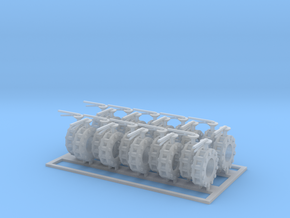 Valves 7.8-4mm 10x Closed 10x Open in Smooth Fine Detail Plastic