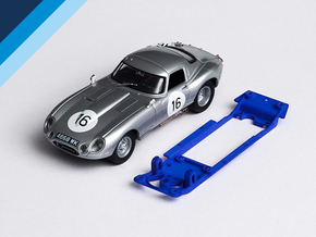 1/32 Monogram Jaguar E-type Chassis Slot.it IL pod in Blue Strong & Flexible Polished