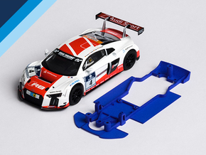 1/32 SCX Audi R8 LMS Chassis for Slot.it AW pod in Blue Processed Versatile Plastic