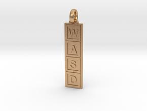 PC Gamer's Keyring/Pendant in Natural Bronze