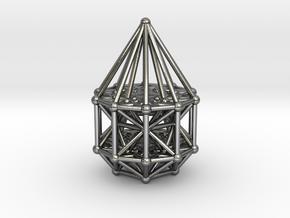 Penteract Matrix Stargate in Polished Silver