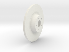 Brake Disk in White Natural Versatile Plastic