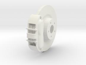 Brake System in White Natural Versatile Plastic