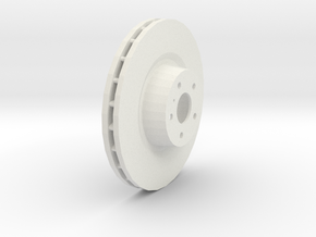 Ventilated Brake Disk in White Strong & Flexible