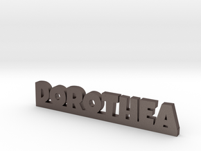 DOROTHEA Lucky in Polished Bronzed Silver Steel