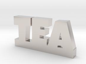 TEA Lucky in Rhodium Plated Brass