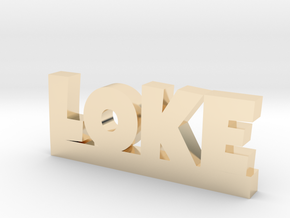 LOKE Lucky in 14k Gold Plated Brass
