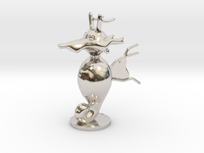 Kingdra in Rhodium Plated Brass