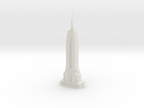 Empire State Building (1:2000) in White Strong & Flexible