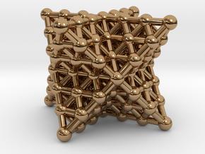 Merkaba Matrix 3 - Star tetrahedron grid in Polished Brass