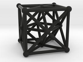 Metatron's Cube - Merkaba Cube in Black Natural Versatile Plastic