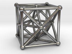 Metatron's Cube - Merkaba Cube in Polished Silver
