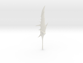 Monster Hunter: Rathalos Greatsword in White Natural Versatile Plastic: Large