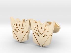 decepticons cufflinks  in 14k Gold Plated Brass