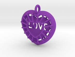 Protected Love in Purple Processed Versatile Plastic