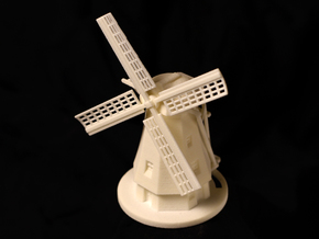 Dutch Windmill in White Strong & Flexible