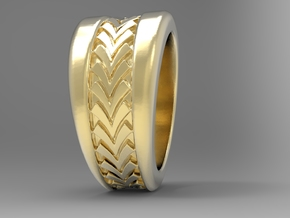 Spruce Ring G in 18k Gold Plated Brass: 10 / 61.5