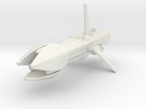 Species 8472 Bioship (Star Trek Voyager), 1/3.2K in White Strong & Flexible