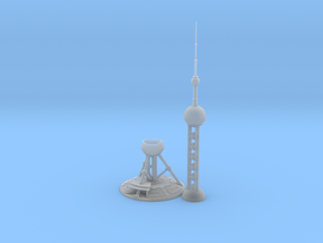 Oriental Pearl Tower (1:2000) in Smooth Fine Detail Plastic