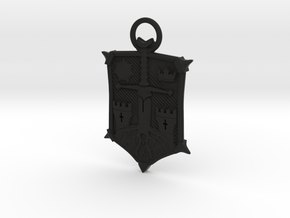 Honor Knight Emblem A 70mm in Black Natural Versatile Plastic
