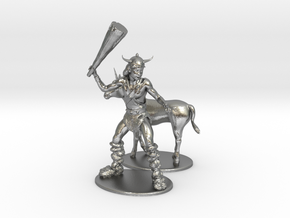 Bobby the Barbarian & Uni Miniatures in Natural Silver: 1:60.96