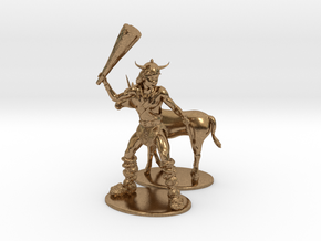 Bobby the Barbarian & Uni Miniatures in Natural Brass: 1:60.96
