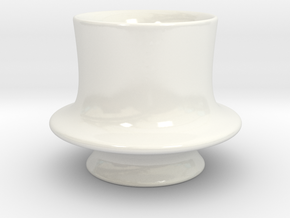 Derviche Coffee Cup in Gloss White Porcelain