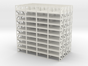 Industrial Shelf 4x scale 1-100 in White Strong & Flexible: 1:100