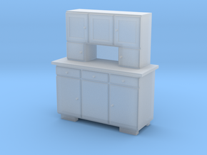 TT Cupboard 3 Doors - 1:120 in Smooth Fine Detail Plastic