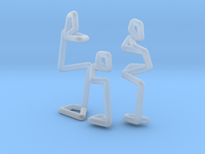 Family Couple + Kid scale 1-100 in Smooth Fine Detail Plastic: 1:100