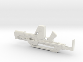 M41a Pulse Rifle  1.3 Scale 23cm in White Strong & Flexible