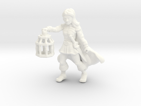 Wenda, Novice Adventurer (28mm/Heroic scale) in White Processed Versatile Plastic